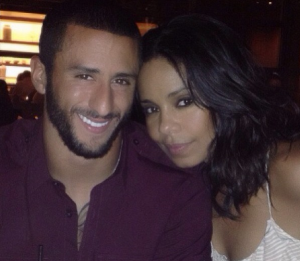 Colin Kaepernick and Sanaa Lathan