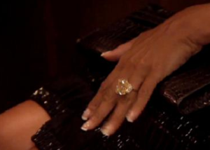 Study conducted by Emory finds that smaller engagement rings equal a longer marriage Marjorie Harvey has a 25 carat ring www.iDateDaily.com